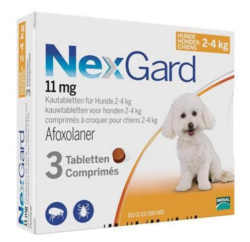 Nexgard 4-10 lbs 11 mg (2-4kg) 3 Pack