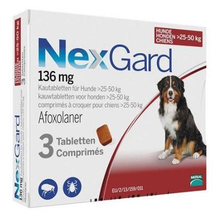 Nexgard 60-121 lbs 136mg (25-50 kg) 3 Pack