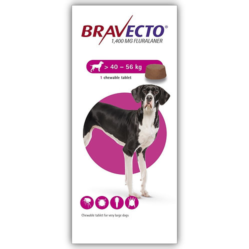 Bravecto Chewable For Dogs 88-123 lbs (40-56 kg