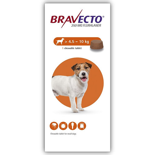 Bravecto Chewable For Dogs 9.9-22 lbs (4.5-10 kg)
