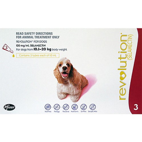Revolution Red Dogs 22-44lbs (10-20kg) - 3 Pack