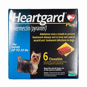 Heartgard Plus Blue For Dogs Up To 25 lbs (>11kg)
