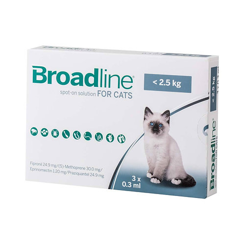 Broadline Spot-On Solution for Small Cats up to 5.5 lbs (<2.5kg)