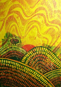 Jeff Perks- Is it a New Begining. cradboard Print. 40x30cm