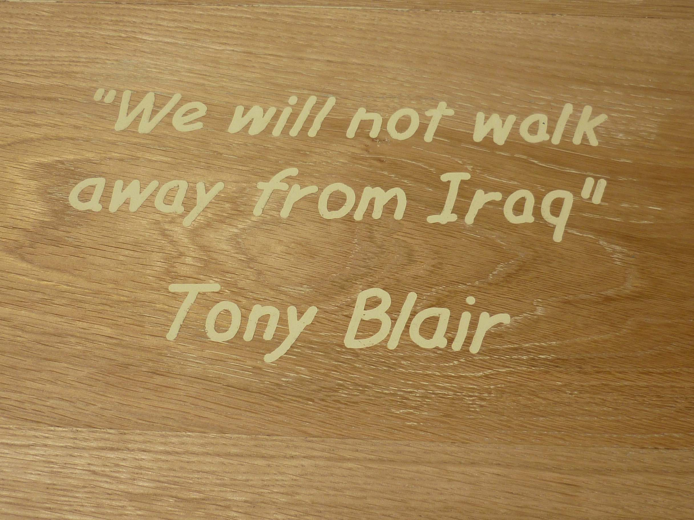 We will not walk away from Iraq - Close Up - Jeff Perks