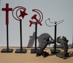 Jeff Perks-Tick (wielded Metal, Bronze, Paper)60x25x25cm