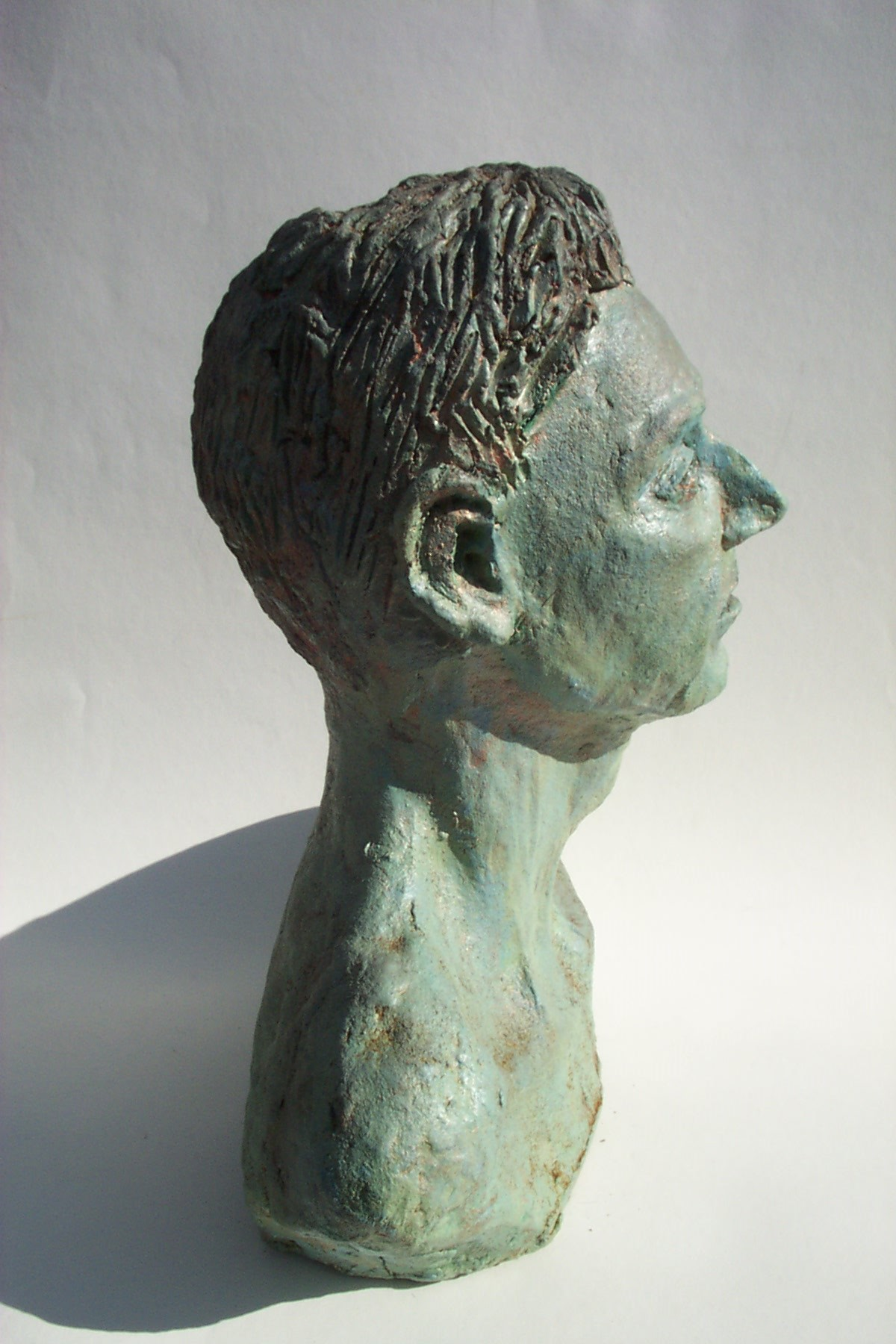 Jeff Perks-Pete. Bronze side view