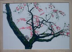 Jeff Perks. Spring. Linocut. 60x40cm