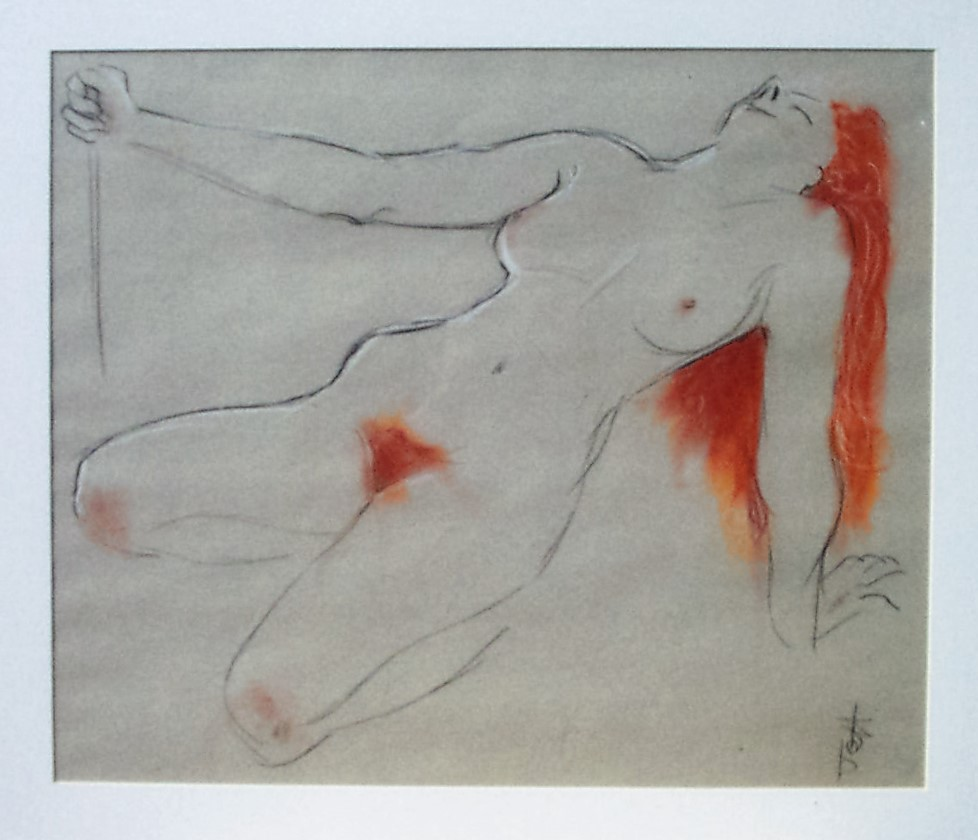 Jeff Perks-Girl with Red Hair backwards