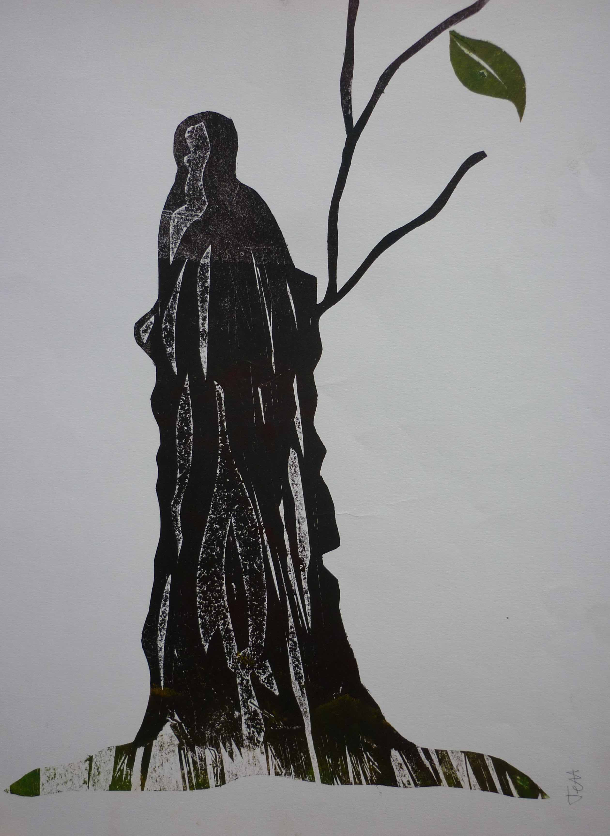 Jeff Perks-Tree of Life. Cardboard Cut. 60x40cm