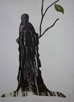 Jeff Perks-Tree of Life. Cardboard Cut. 60x40cm