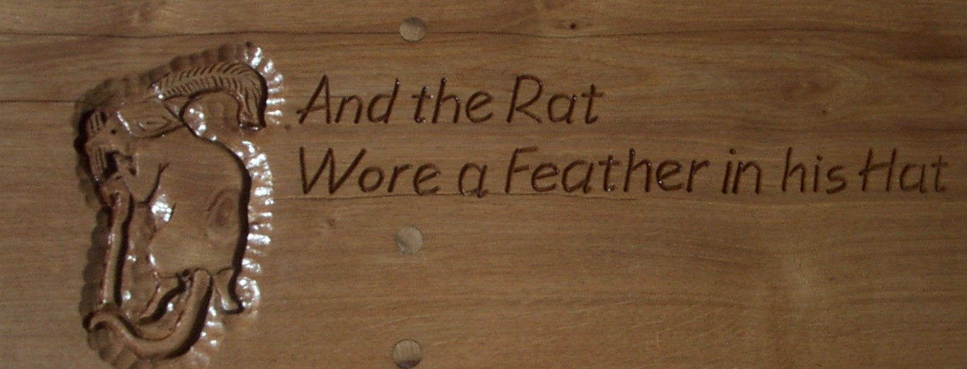 Jeff Perks. The rat wore a feather in his hat.Bench End