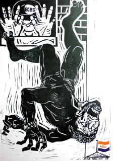 Jeff Perks-Before their time. Cardboard Print.  40x 30cm,