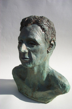 Jeff Perks-Pete Bronze. front view.40x30x30cm