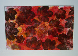 Jeff Perks Autumn (printed from leaves. 76cmx51cm