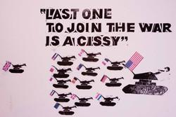 Jeff Perks-Iraq Anti War Poster linocut 50x40cm