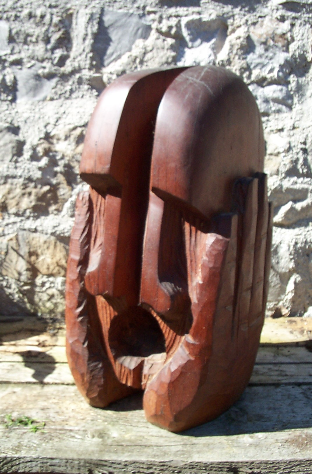 Jeff Perks-Spilt Head.Oak. 60x30x30cm