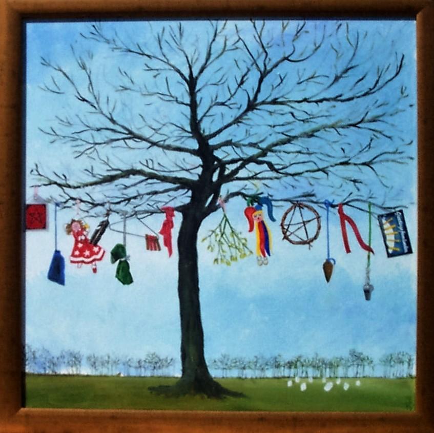 Jeff Perks-Magic Tree (Oil Painting)61x61