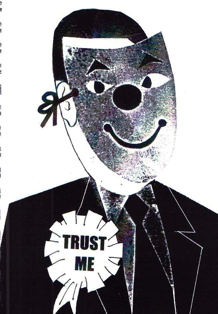 Jeff Perks- Iraq.Trust Me. Carboard Cut. 30x20