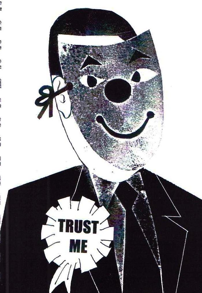 Jeff Perks- Iraq.Trust Me. Carboard Cut. 30x20