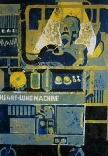Jeff Perks- Needless Suffering. Cardboard Print.50x40cm
