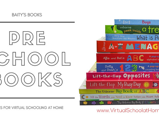 Preschool Books for Virtual School at Home