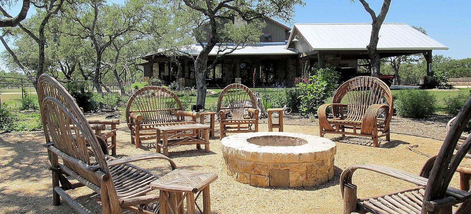Rustic+DG+patio_fire+pit_cypress+furniture