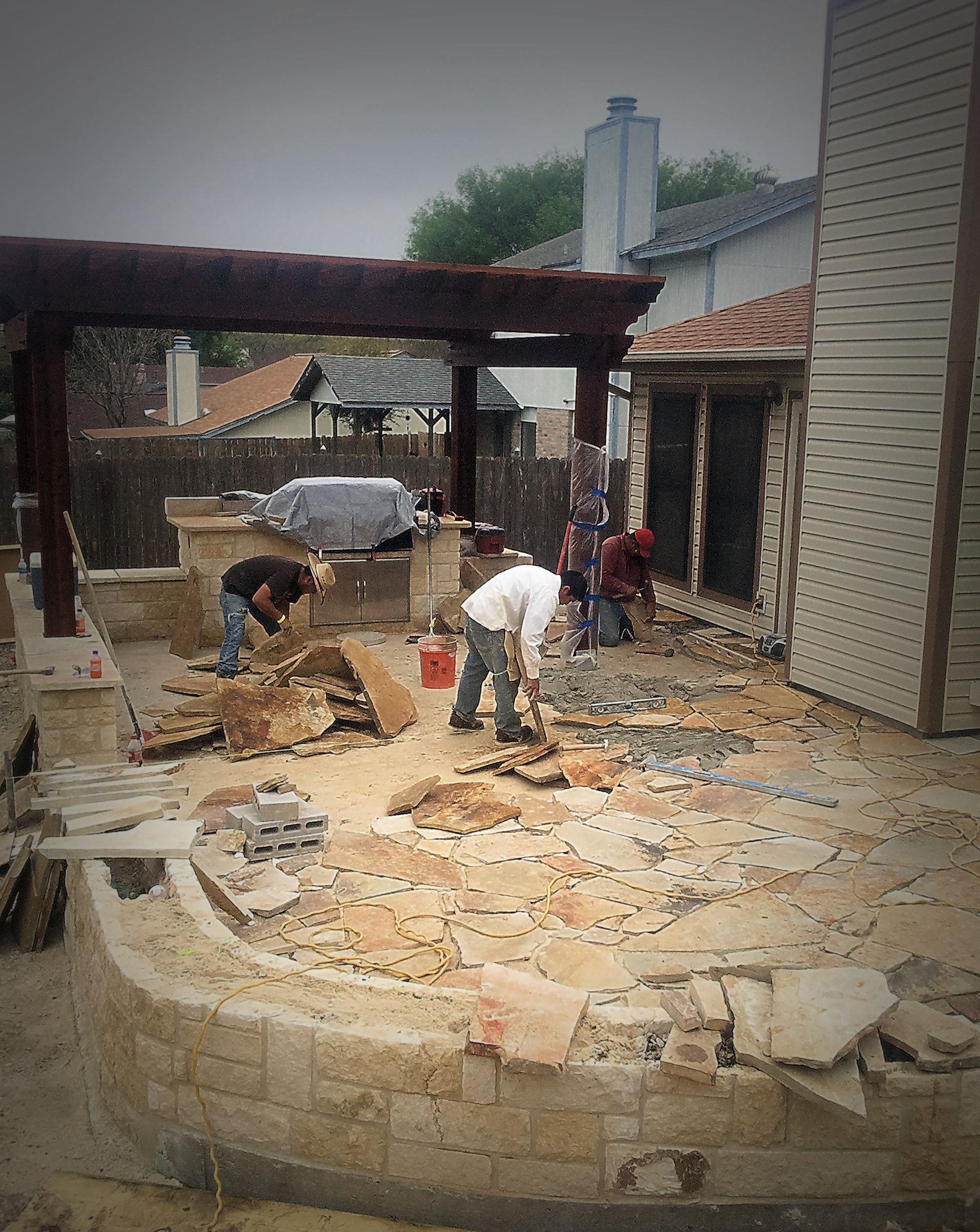 Installing A Flagstone Patio With Mortar: S.A. GROWS Landscape Services / Images / Contact Info
