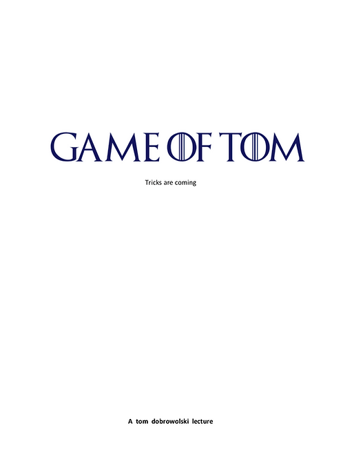 Game of Tom PDF