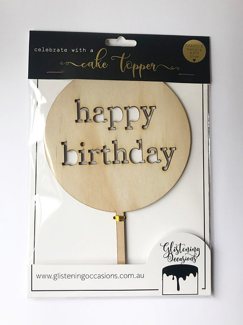 Happy Birthday cut out cake topper