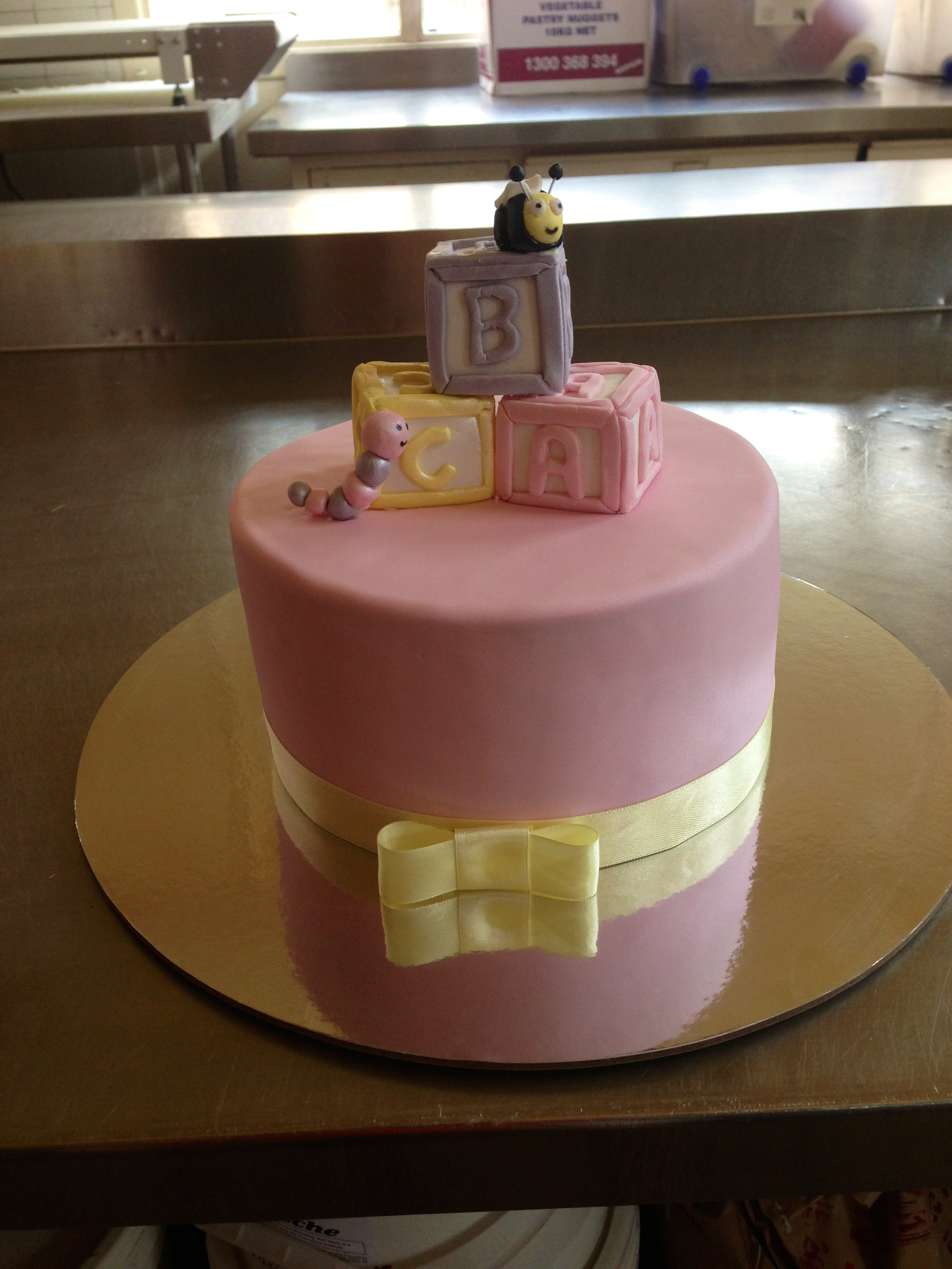 Girl baby shower cake.