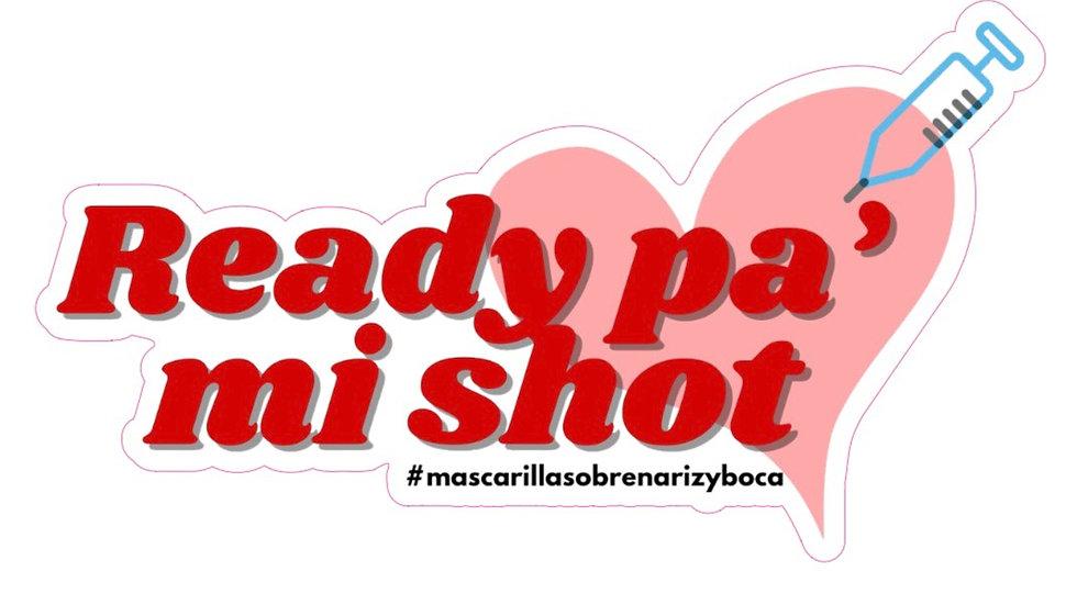 """""""Ready pa' mi shot"""" Set de 2 Stickers"""