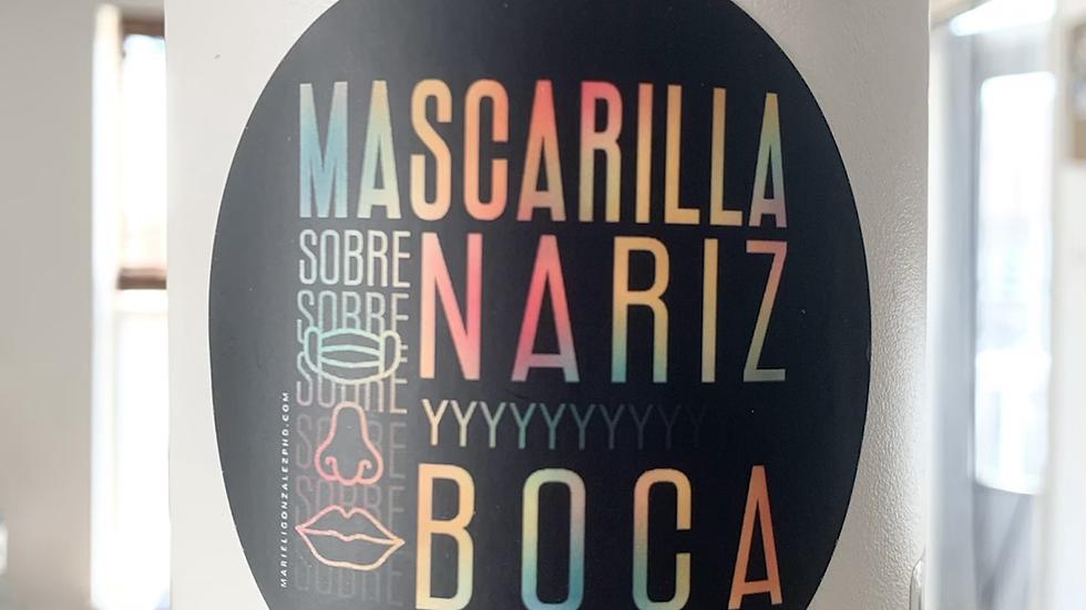 Calcomanía Mascarilla Sobre Nariz y Boca-Verano