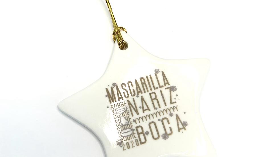 Ornamento Estrella Sobre Nariz y Boca 2020