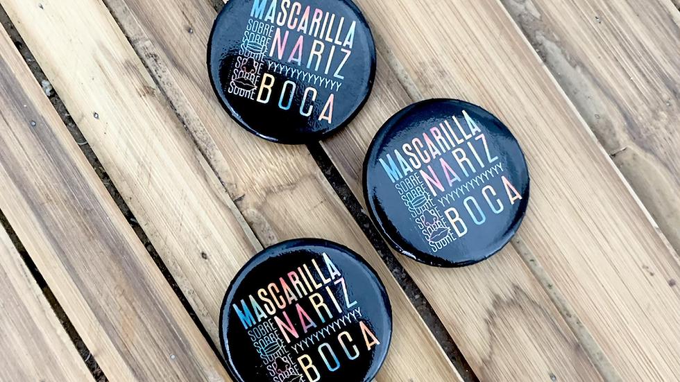 Botones Mascarilla sobre Nariz y Boca-Verano