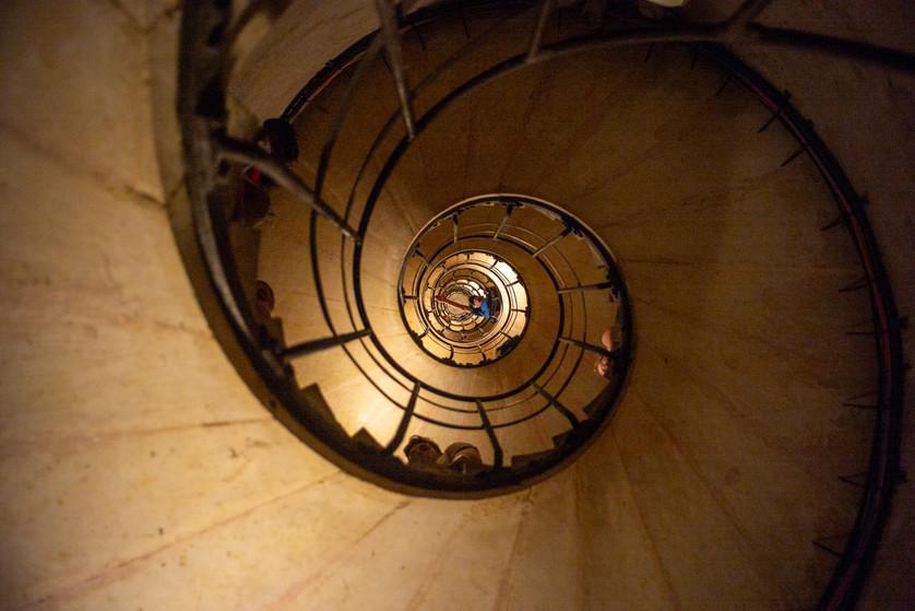 Reaching arcoss the spiral
