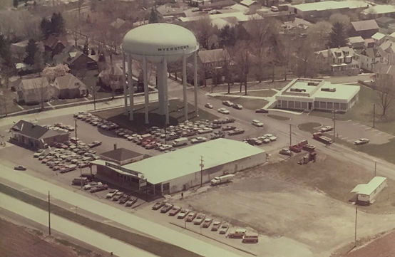 Aerial view of C.J.Wagner Inc. in the early 1970s