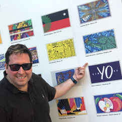 Eddie Bruckner at The Flag Project Artists Wall