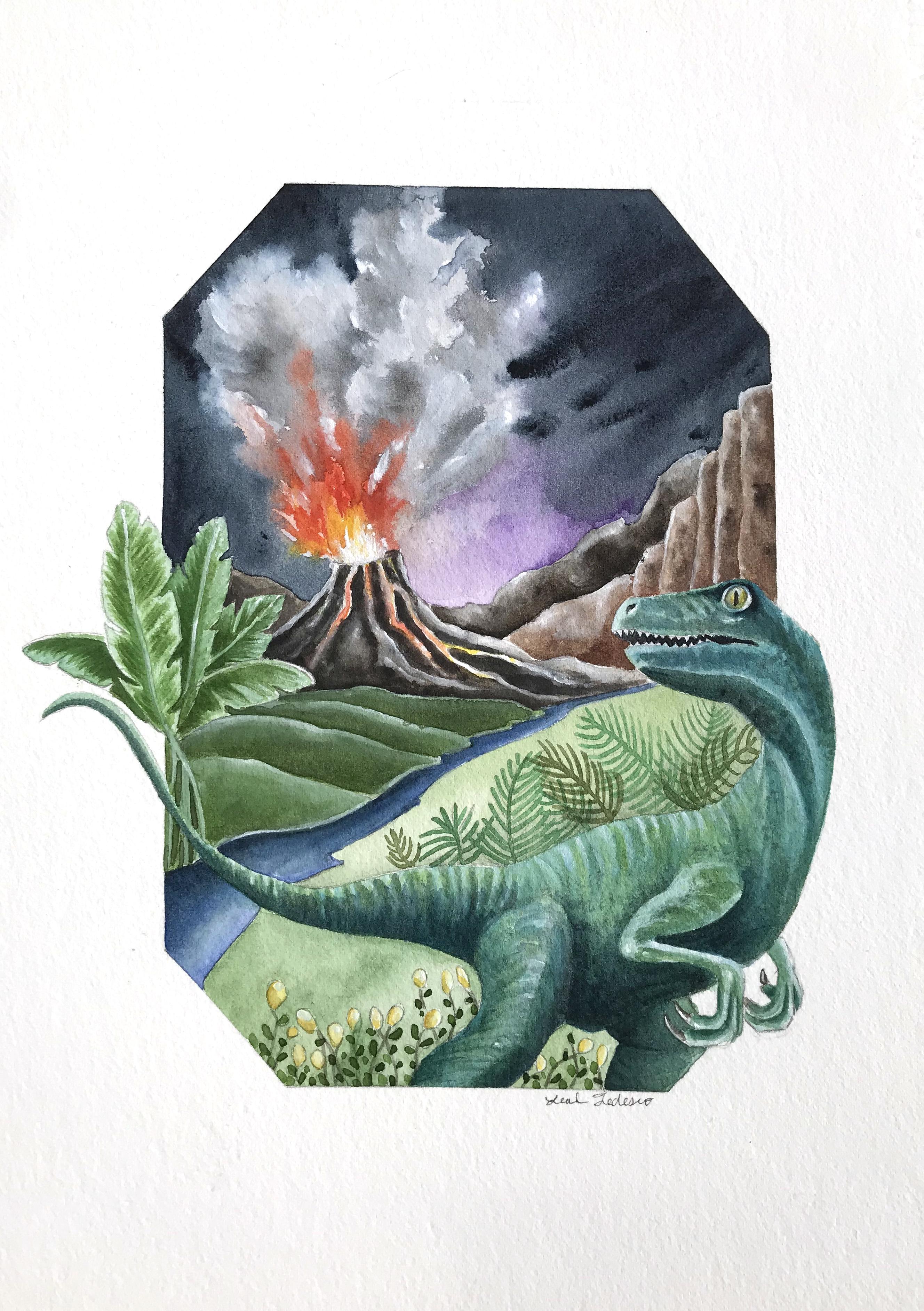 Raptor and Volcano