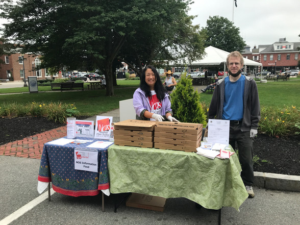 Berline Chao, John Lechner - Food & Information Table