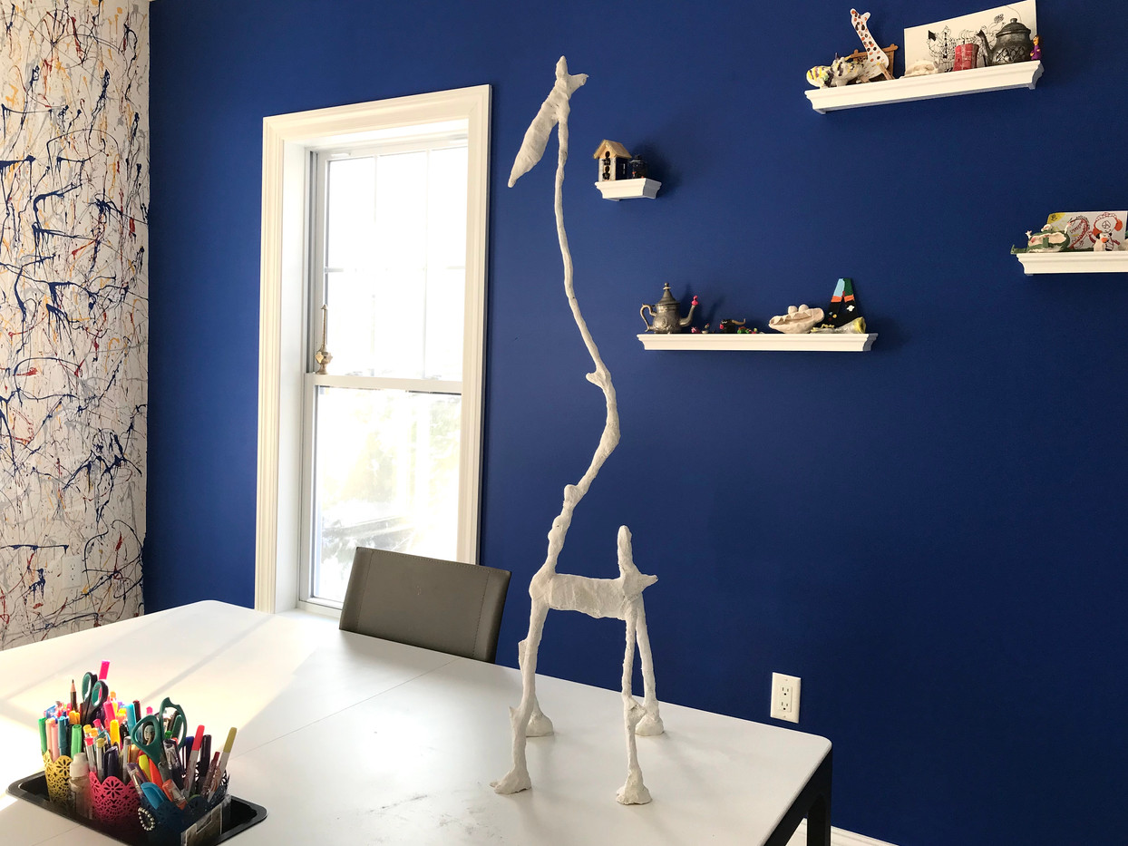 The art room (sculpture made in the mastering plaster class)