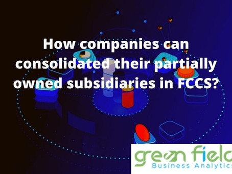 How Companies can consolidate their partially owned subsidiaries in FCCS?