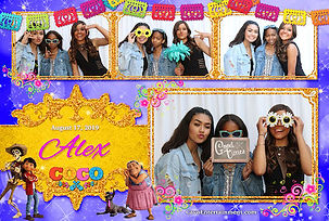 Coco Disney Photo Booth Template
