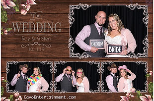Ray and Lristen Lossing Wedding Photo Booth Pictue