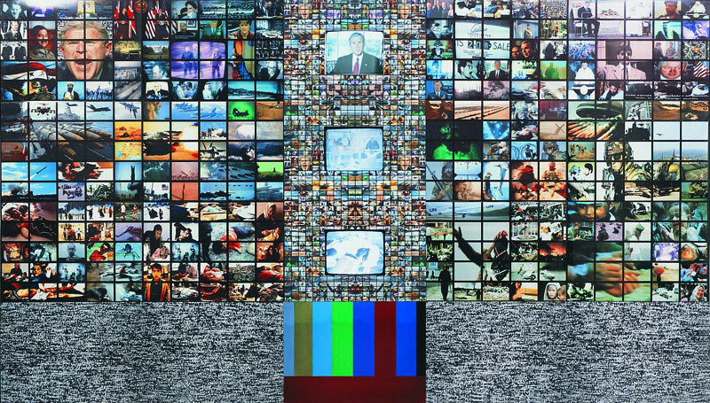 Kanıksanmış kanıksatılmış savaşlar.  2002 MSGSÜ diploma projem.  2x3 metre video art