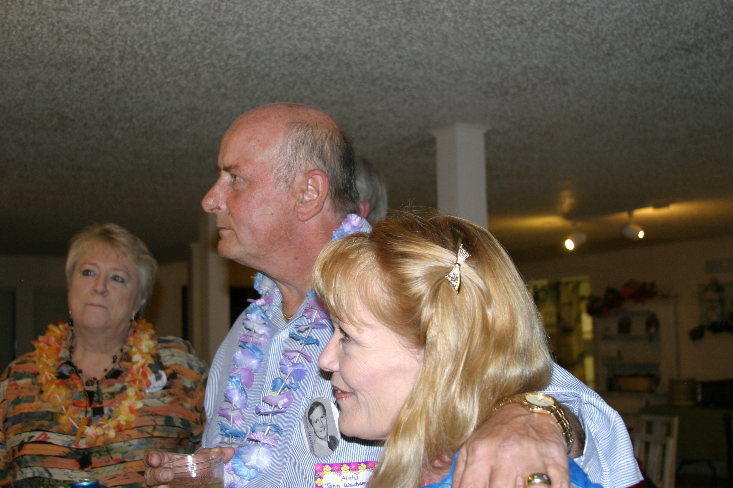Janet McKee, Johnny Wachsmuth & Shirley wearing Mrs. Wachsmu