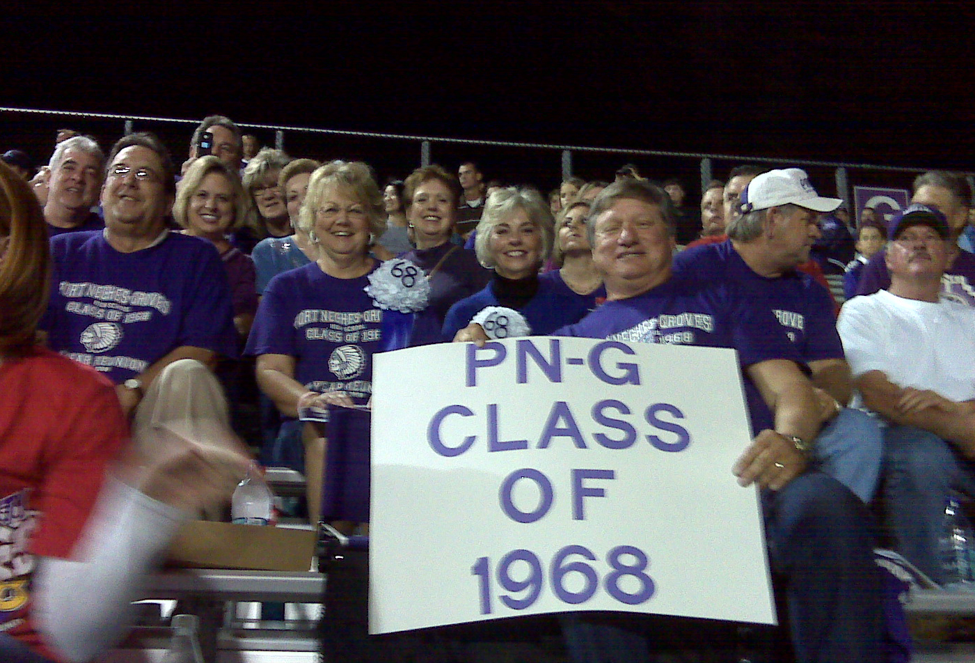 Class of 68 at homecoming 2