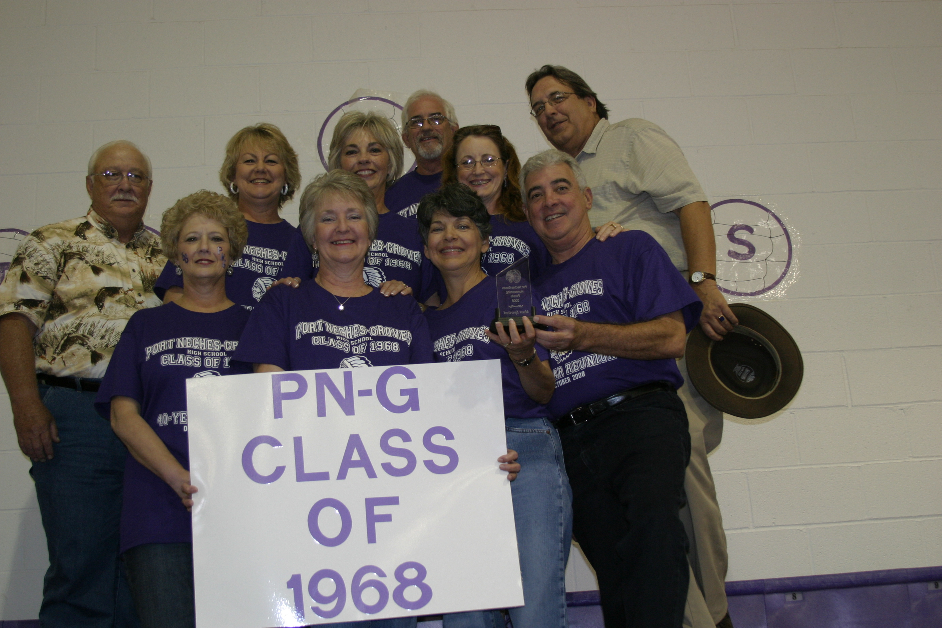 Class of '68 sporting the trophy