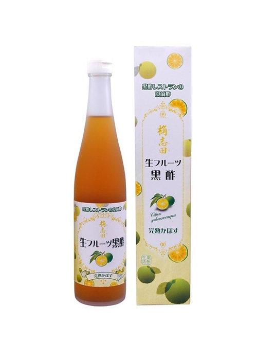 日本柑橘味 果醋 生フルーツ黒酢完熟かぼす Japan Organic Citrus V