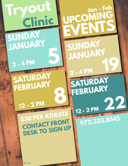 TRY OUT CLINIC 2020